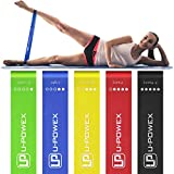 UPOWEX Resistance Bands – Set of 5 – Exercise Bands for Booty, Crossfit, Stretching, Strength Training, Physical Therapy, Home Fitness, Legs and Butt – Workout Bands with 100% Life Time Guarantee