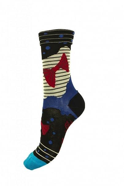 Calcetines Hilo De Escocia nudo Pap Berta en los grandes patas Multicolor multicolor