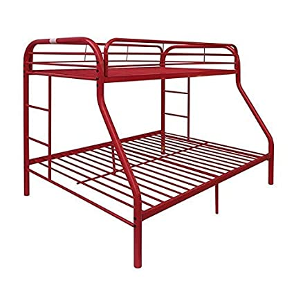 Amazon Com Acme Tritan Red Twin Over Full Bunk Bed Kitchen Dining