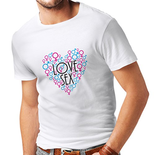T Shirts For Men Sexy ST. Valentines Day Outfits, Gift Ideas (XXX-Large White Multi - Day Ideas Valentiens