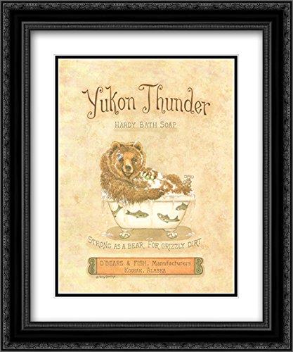 (Yukon Thunder 2X Matted 15x18 Black Ornate Framed Art Print by Kathy Jennings)