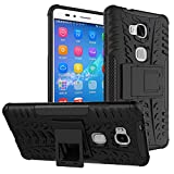 Huawei Honor 5X / GR5 Case,Mama Mouth Shockproof Heavy Duty Combo Hybrid Rugged Dual Layer Grip Cover with Kickstand For Huawei Honor 5X / GR5 KII-L22 5.5 Inch Smartphone,Black