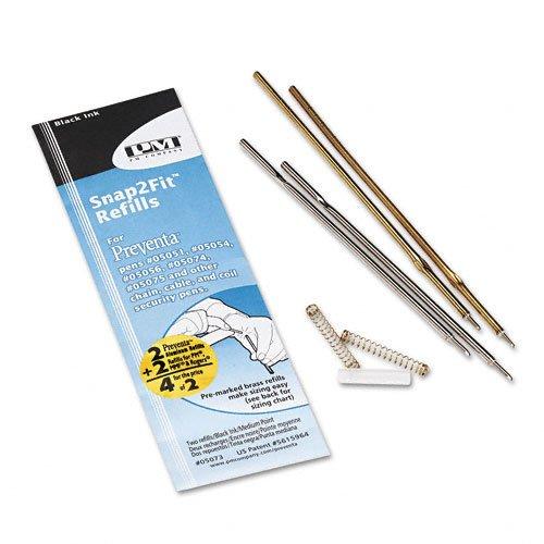 PM Company Aluminum Counter Pen Refill, Medium Point, Black Ink (PMC05073)