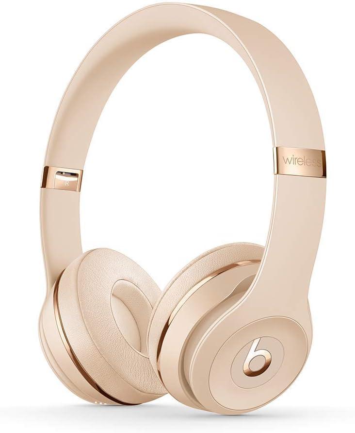 Beats Solo3 Wireless On-Ear Headphones - Satin Gold (Latest Model)