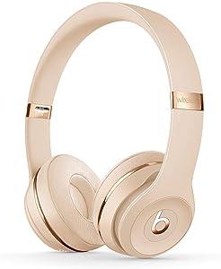 Beats Solo3 Wireless On-Ear Headphones - Apple W1 Headphone Chip, Class 1 Bluetooth, 40 Hours of Listening Time - Satin Gold (Latest Model)