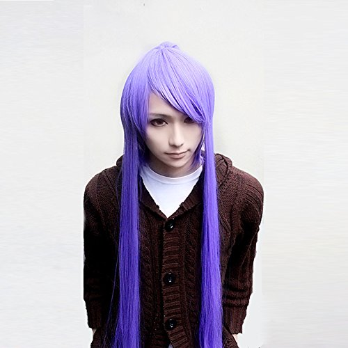 Kamui Gakupo Purple 100cm Long Straight Cosplay Costume Wig + 1 (Gakupo Kamui Cosplay Costume)