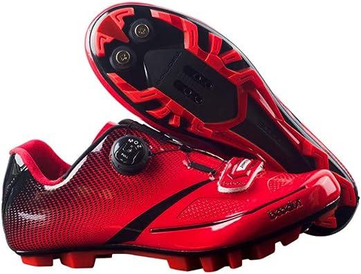 CWXDIAN Zapatillas de montaña para Bicicletas Antideslizantes ...