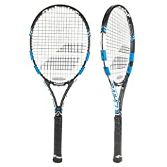 New for 2015, the Pure Drive Tour Plus is an update to the Babolat Pure Drive Roddick Plus, now in a sleek black and blue design. The extremely powerful Pure Drive Tour Plus is updated with Babolat's new frame to string interaction tec...