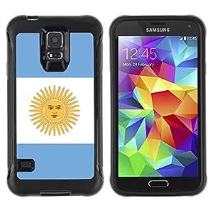 Be-Star único patrón Impacto Shock - Absorción y Anti-Arañazos Funda Carcasa Case Bumper Para SAMSUNG Galaxy S5 V / i9600 / SM-G900F / SM-G900M / SM-G900A / SM-G900T / SM-G900W8 ( Argentina Flag )