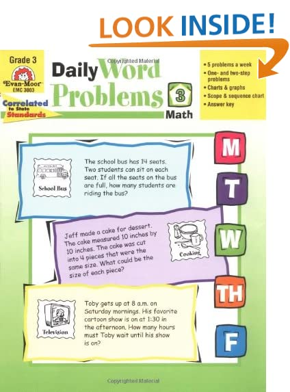 Workbook common core worksheets 4th grade math : Math Daily 3: Amazon.com