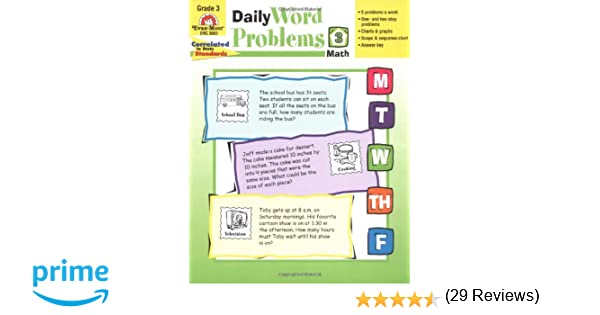 Math Worksheets free printable math worksheets 5th grade : Amazon.com: Daily Word Problems, Grade 3 (9781557998156): Evan ...
