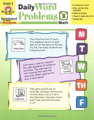 Amazon.com: Daily Word Problems, Grade 3 (9781557998156): Evan ...