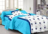 Story@Home 120 TC Cotton Single Bedsheet with Pillow Cover - White