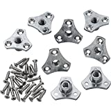 Screw-On Tee Nuts, 5/16'' x 18 TPI, 8 Pack