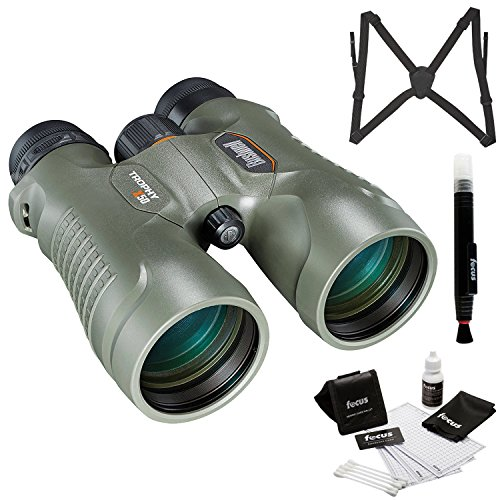 Bushnell Trophy Xtreme 8x56mm Binocular, Green (335856) with Harness and Glass Care Kit