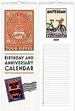 Linnea Design Birthday and Anniversary Perpetual Calendar Travel Motif