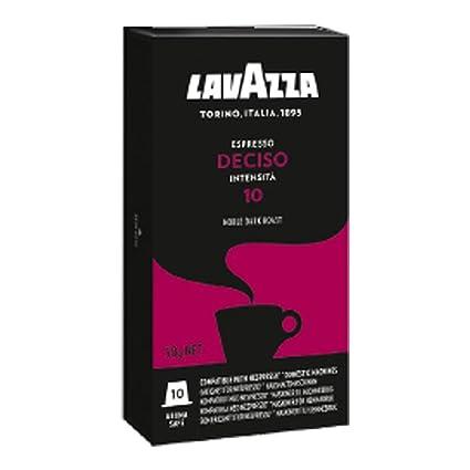 Lavazza deciso Espresso, Café Cápsulas, compatible con máquinas, 10 Cápsulas de Nespresso Café