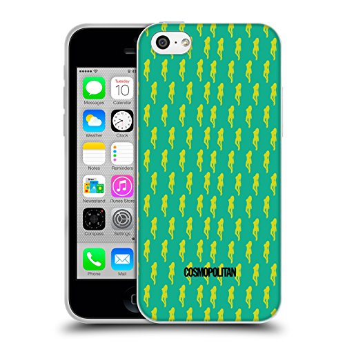Official Cosmopolitan Green Fun Fearless Female Soft Gel Case for Apple iPhone 5c