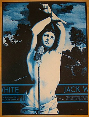 (2012 Jack White - Tulsa Silkscreen Concert Poster by Rob Jones)