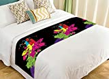 PicaqiuXzzz Custom Animal Bed Runner, Watercolor Giraffe Colorful Bed Runners And Scarves Bed Decoration 20x95 inch