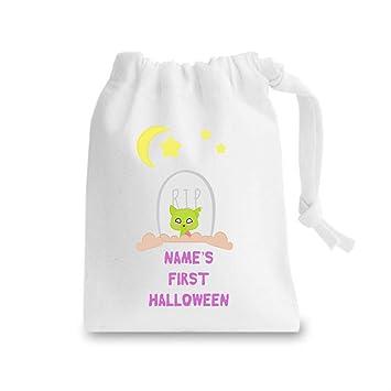Zombie - Grano de perro personalizado para cualquier nombre, primer saco de Halloween, Unisex, blanco, XS: Amazon.es: Deportes y aire libre