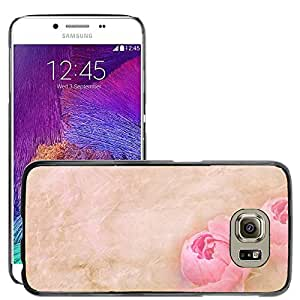 Hot Style Cell Phone PC Hard Case Cover // M00150120 Stationery Paper Flowers Font Tender // Samsung Galaxy S6 (Not Fits S6 EDGE)