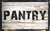 (Rustic White Pantry) WALL DECOR DISTRESSED PRIMITIVE HARD WOOD SIGN PLAQUE by Your Lucky Decor