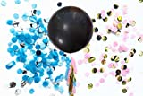 Fonder Mols 36 inch Gender Reveal Balloon with Pink and Blue Confetti Decoration Kit for Gender Reveal, Baby Shower Decorations, Sex Reveal