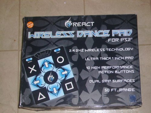 React Wireless Dance Pad for Play Station 2 Dance pad PS2