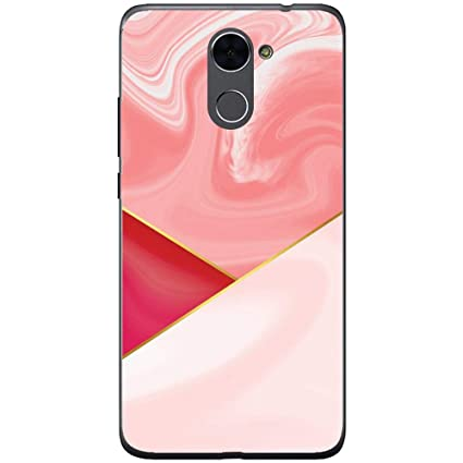 Amazon.com: Silicone Case for Pink Triangles Marble Huawei ...