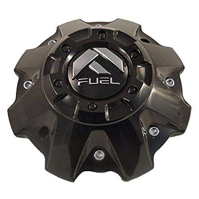 Fuel Wheels Black Gloss Custom Center Cap Set of One (1) # 1001-63B 5-6 LUGGER: Automotive