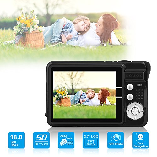 10 Digital Camera (HD Mini Digital Camera with 2.7 Inch TFT LCD Display,Point and Shoot Digital Video Recorder Cameras-Sports,Travel,Holiday,Birthday Present)
