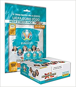 UEFA Euro 2020 Adrenalyn Xl Official Preview Collection Mega Starter Pack BOX DA 24 Bustine - 4 Bustine Extra - 2 card Limited Edition - raccoglitore - guida ufficiale - Campo da