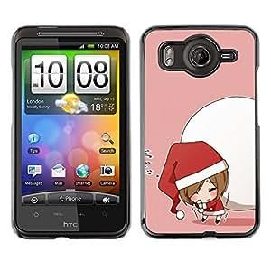 YOYO Slim PC / Aluminium Case Cover Armor Shell Portection //Christmas Holiday Cute Santa Girl 1273 //HTC G10