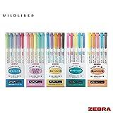 Zebra Mildliner - FULL 25 Colour Set (Includes New WKT7-N-5C & WKT7-5C-HC Sets)