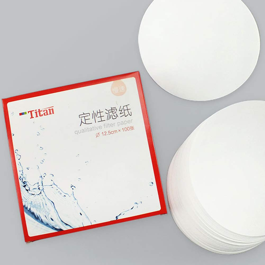7cm Diameter Pack of 100 Medium Filtration Speed Tansoole Qualitative Filter Paper Circle 30-15 Micron Pore Size