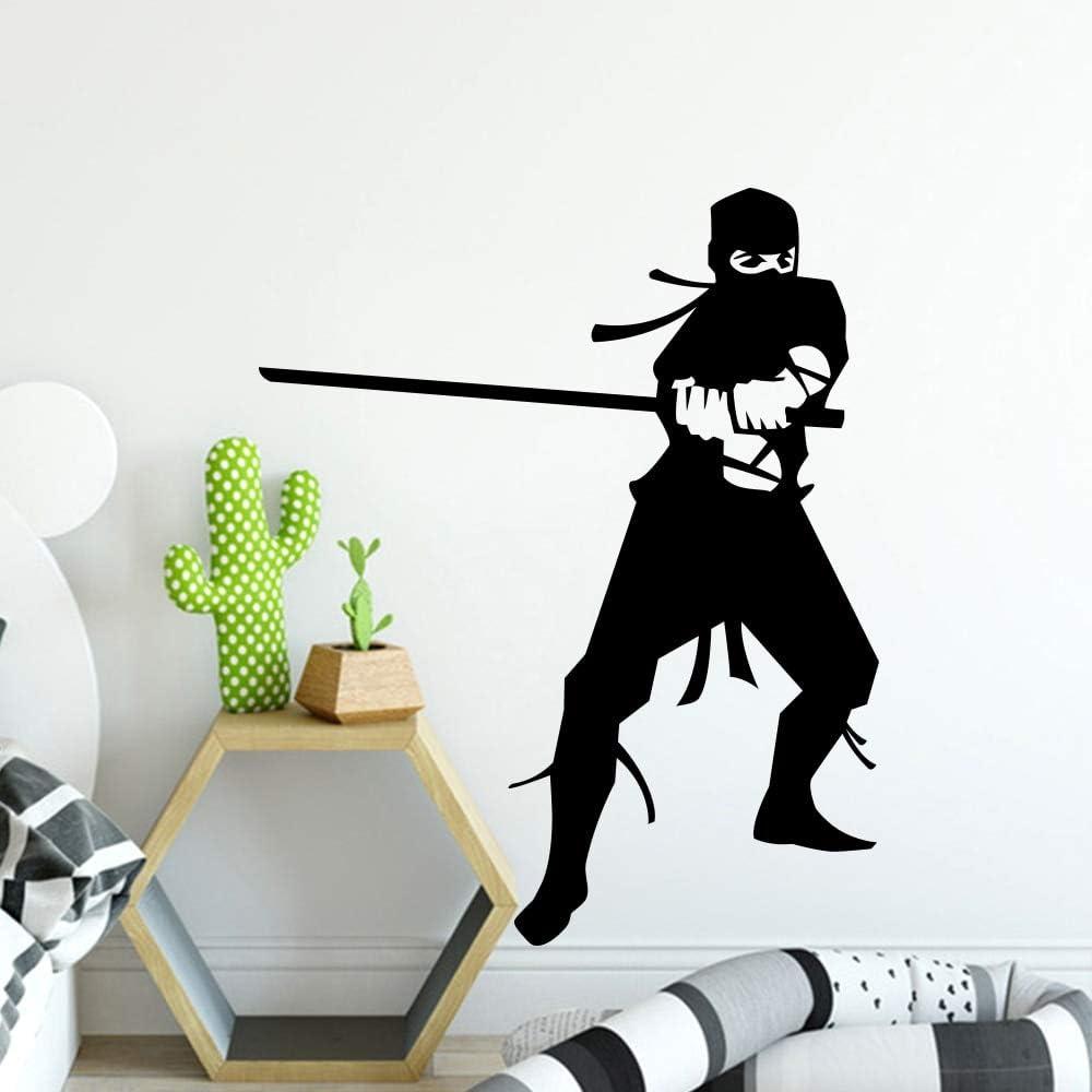 Pegatina de pared de vinilo ninja clásica japonesa decoración ...