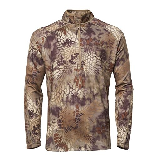 Kryptek Cronos 1/2 Zip Camo Hunting Sweater (Fleece Collection), Highlander, 2XL