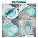 ZeeDix 5 Pcs Bathroom Toilet Seat Cover Pad-Warmer