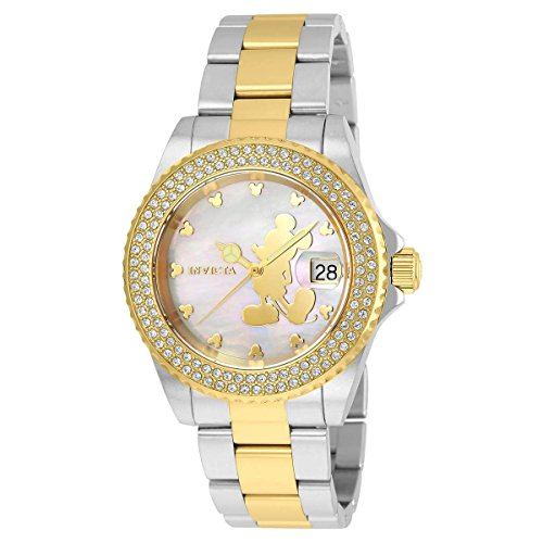 Invicta Women's 'Disney Limited Edition' Quartz Stainless Steel Casual Watch, Color:Two Tone (Model: 22729)