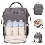Kyпить Lifecolor Diaper Bag Multi-functional Nappy Bags Waterproof Travel Mom Backpack for Baby Care, Large Capacity, Stylish and Durable(Gray) на Amazon.com