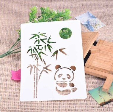 Panda Tree Stencil - Custom Stencils and Templates from - Bamboo Stencil