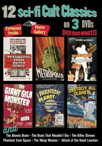 - 12 Sci-Fi Cult Classics on 3 DVDs