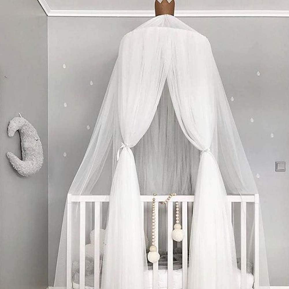 Nbibsaacy Lit /à baldaquin pour b/éb/é pour Petite Princesse Anti-Moustique Berceau D/ôme ch/âteau Tente de Jeu en Suspension D/écoration De Maison