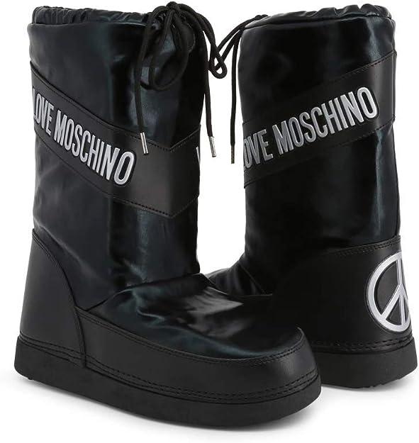 Love Bottes Moschino Neige Boot Argenté Ski de Femmes Bottes fg6b7yYv