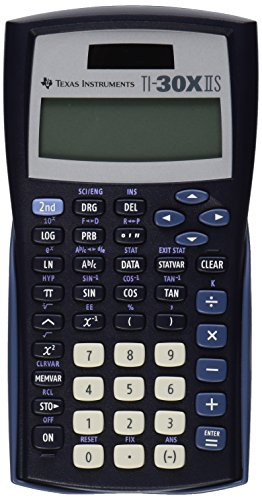 Texas Instruments TI-30X IIS 2-Line Scientific Calculator Black with Blue Accents