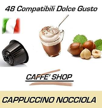 Caffè Shop Cápsulas compatibles con Nescafè Dolce Gusto®, Cápsulas Mezcla Cappuccino Alla Nocciola - Cappuccino Avellana (48 Cápsulas): Amazon.es: Hogar