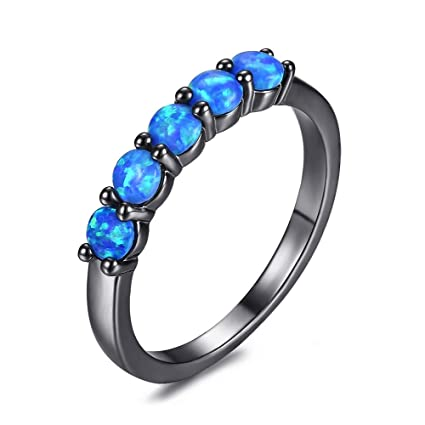 bague or opale bleue