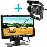 Yatek Caméra de recul avant et arrière avec écran Idéale pour tracteurs, machines agricoles et industriellesVision nocturne