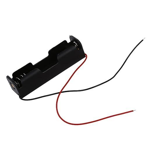 4 opinioni per SODIAL(R) Contenitore Porta Batteria 18650 in Plastica con Cavi
